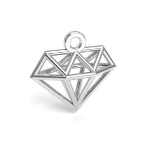 Origami diamond pendant silver, sterling silver 925, CON 1 E-PENDANT 653 11,9x12,6 mm