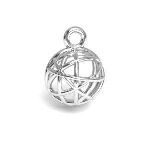 Hemisphere pendant silver, sterling silver 925, CON 1 E-PENDANT 644 8,3x11,25 mm