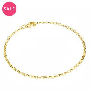 Round rolo bracelet*sterling silver 925*ROLO OVAL 0,35X0,60 17 cm