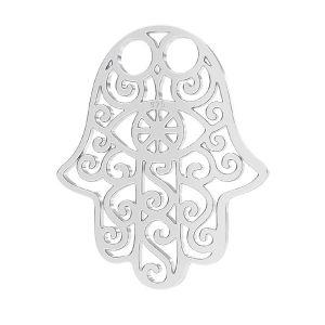 Hamsa pendant, sterling silver 925, LKM-2640 - 0,50 15x20,0 mm