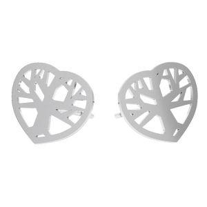 Tree of life earrings, sterling silver 925, KLS LKM-2958 - 0,50 10x12 mm