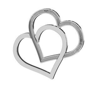 Heart pendant, sterling silver 925, LK-2190 - 05 18x21 mm