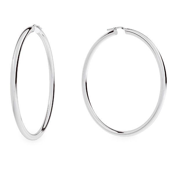Round hoop earrings 7,0 cm KL-180