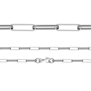 Anchor bracelet, diamond cut*sterling silver 925*FIO 100 19 cm