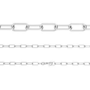 AFLK 1,00 40 cm, anchor chain for celebrity necklace, sterling silver