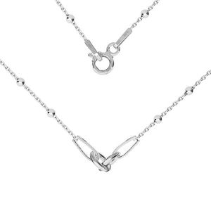 Necklace base, sterling silver 925, S-CHAIN 2 (A 030) - 41 cm