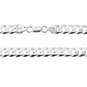 Curb chain bracelet*sterling silver 925*PD 180 6L 19 cm