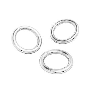 KC-1,00x2,00 - Open jump rings, sterling silver 925