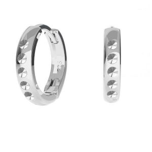 Leverback earrings base for crystals*sterling silver 925*ODL-00756 BZO 13,5x17 mm ver.4