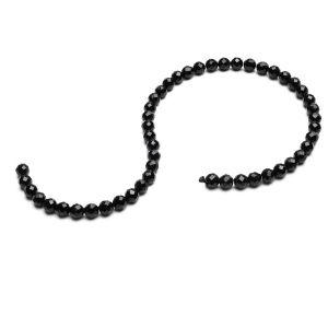ROUND bead stone, black spinel 6 MM GAVBARI, semi-precious stone