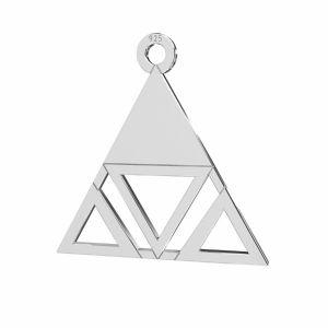 Triangle pendant, sterling silver 925, LKM-2222 - 0,50 18,6x18,7 mm