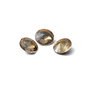 Round crystal 8mm, RIVOLI 8 MM GAVBARI IRIDESCENT GOLD