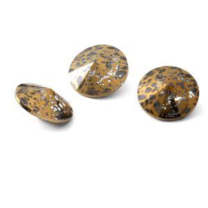 Round crystal 12mm, RIVOLI 12 MM GAVBARI GOLDEN PATINA