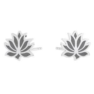 Lotus flower earring, sterling silver 925, KLS LKM-3002 - 0,50 9x9 mm