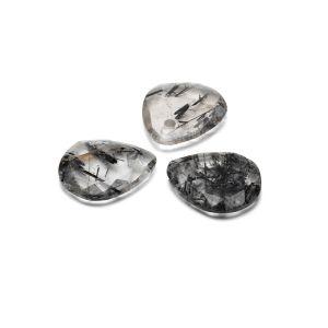 TEARDROP pendant, Black Rutile 16 MM GAVBARI, semi-precious stone