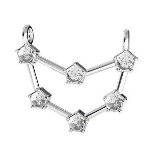 Capricorn zodiac pendant crystals base*sterling silver 925*ODL-00658 18x19,3 mm