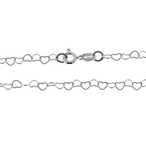 Hearts chain*sterling silver 925*SRC 045 45 cm