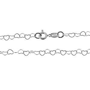 Hearts chain*sterling silver 925*SRC 045 40 cm