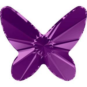2854 MM 12,0 AMETHYST F - Butterfly Flat Back