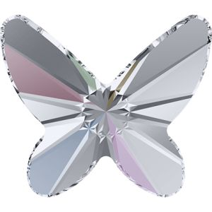 2854 MM 8,0 CRYSTAL AB F - Butterfly Flat Back