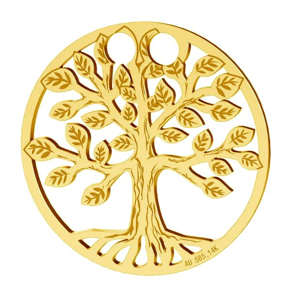 Tree of life pendant gold