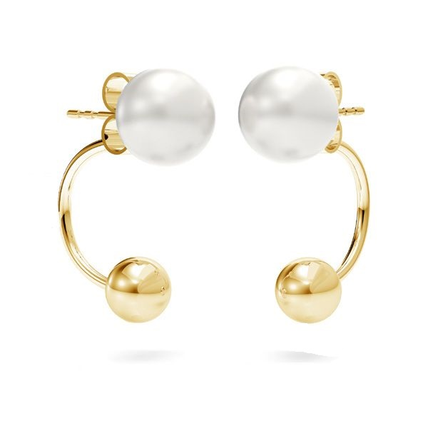 EARRING BACKS WITH BALL - FOR EARRING JACKETS