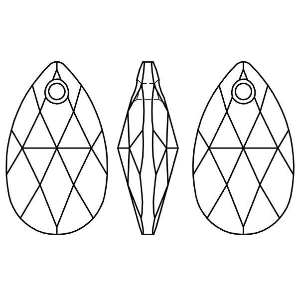 kryształowa zawieszka Swarovski - gruszka