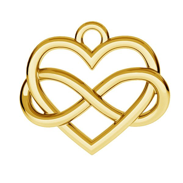 heart and infinity pendant