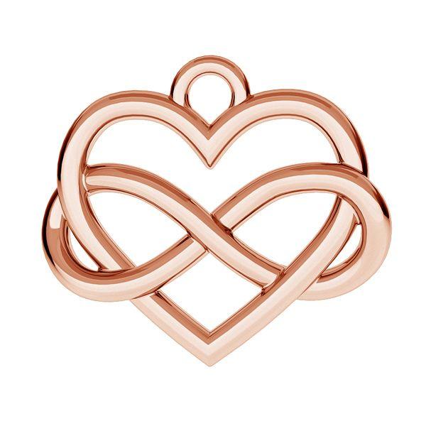 heart infinity charm