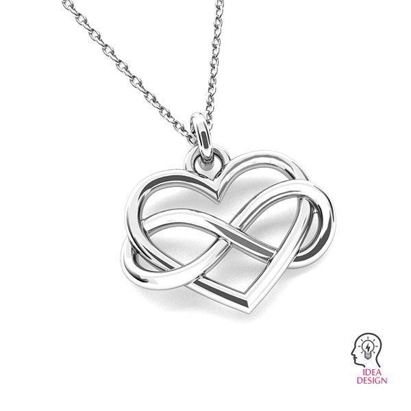 infinity pendant with heart