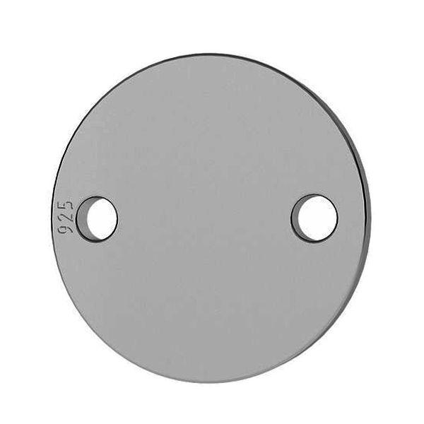 silver disc charm